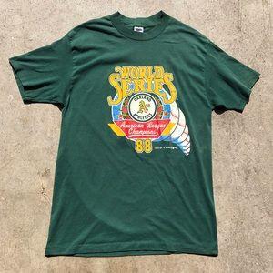 Other - Vtg Oakland A's t-shirt 1988 World Series t shirt
